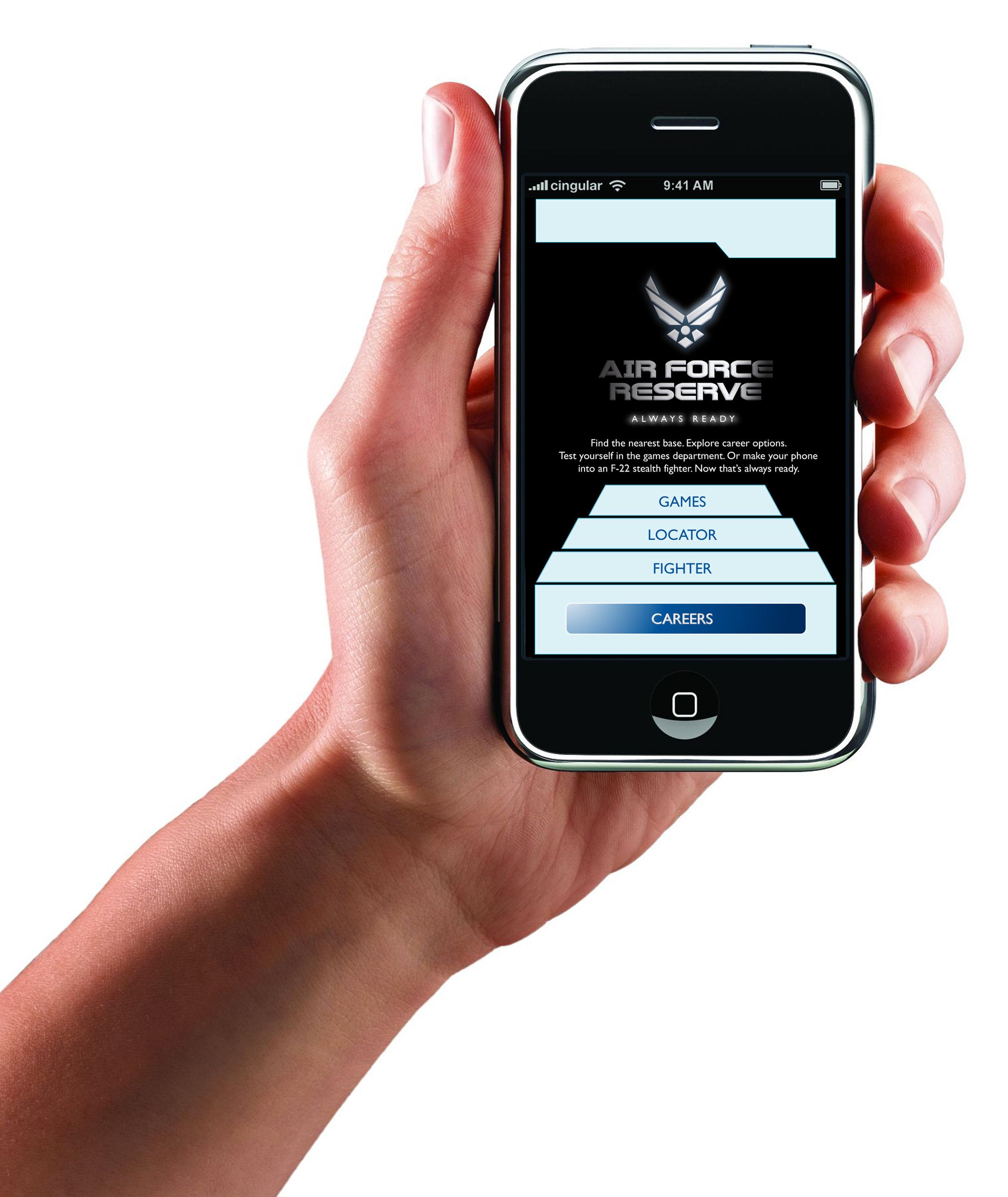 Air Force Reserve Mobile App Menu