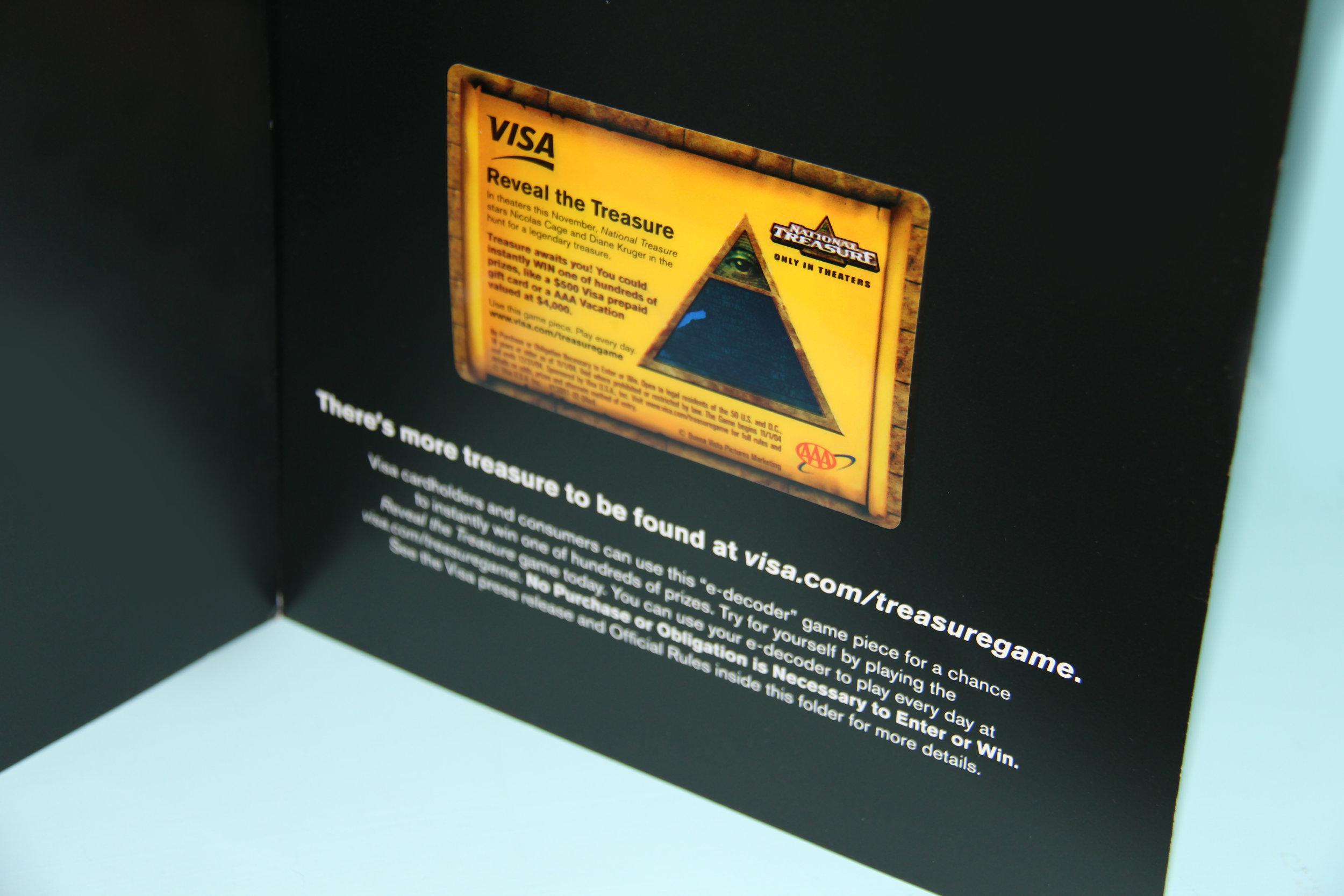 Visa Holiday Promotion Game piece eDecoder