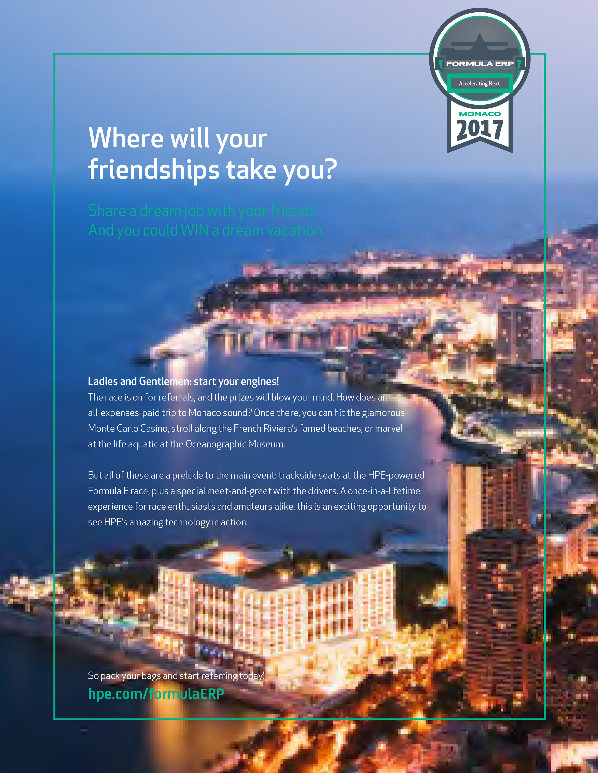 HPE Employee Referral Poster and Promotional Contest