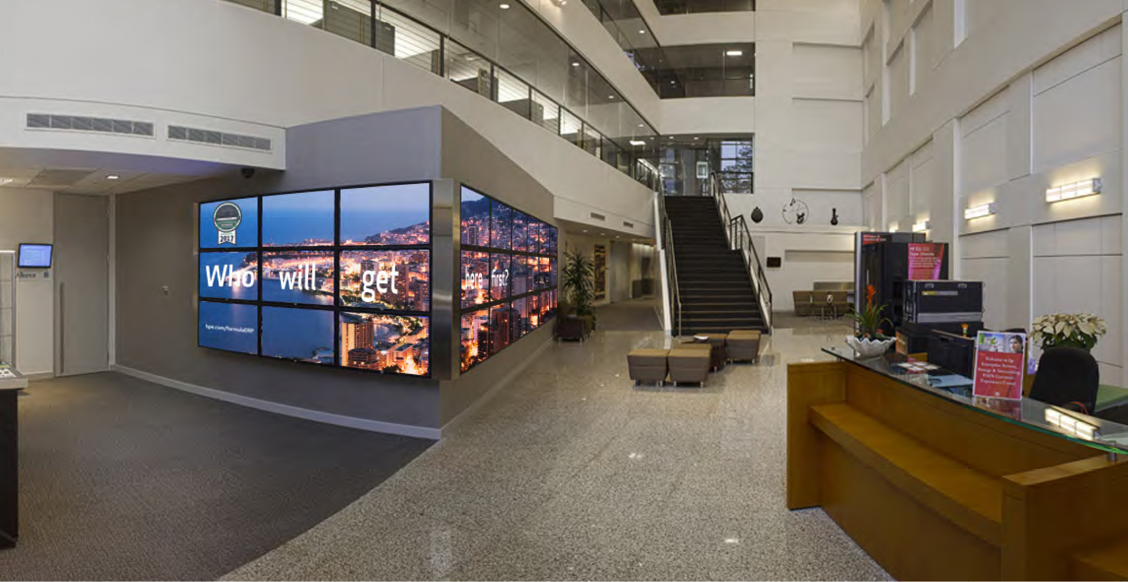 HPE Lobby Video and Promotional Program Display