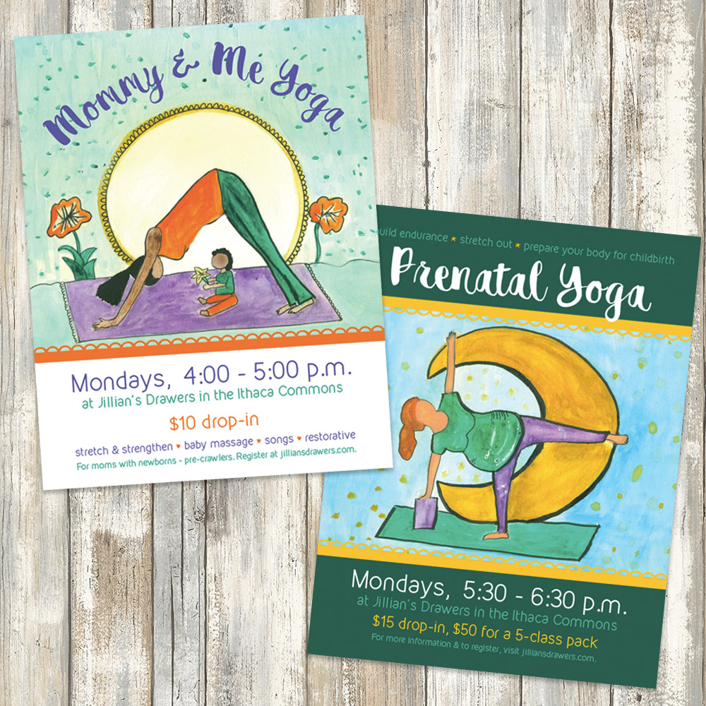 Prenatal and Mommy and Me Yoga Posters