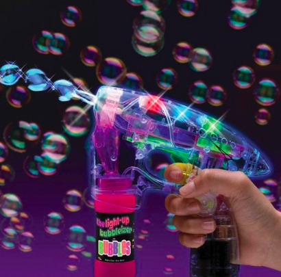 autism light up bubble gun