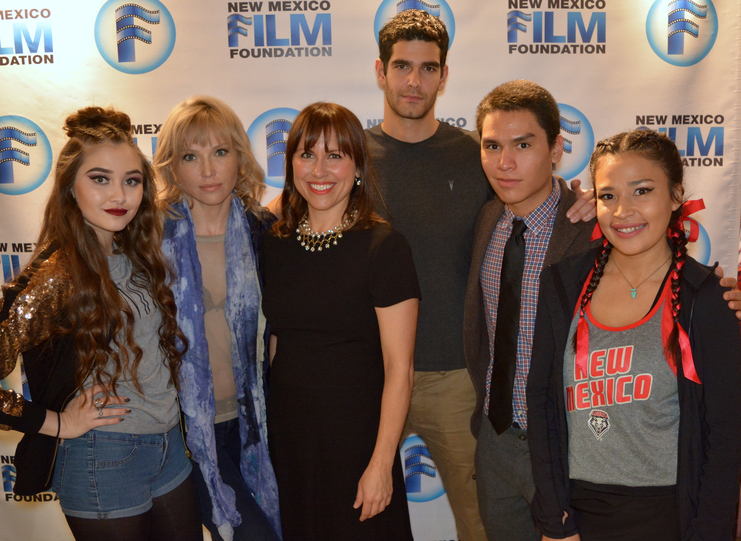 Hanging with the amazing Wolf reading cast... Khaliya Kimberlie, Jenny Gabrielle, Dino Kelly, Forrest Goodluck, and MorningStar Angeline. Photo by Linda Carfagno.