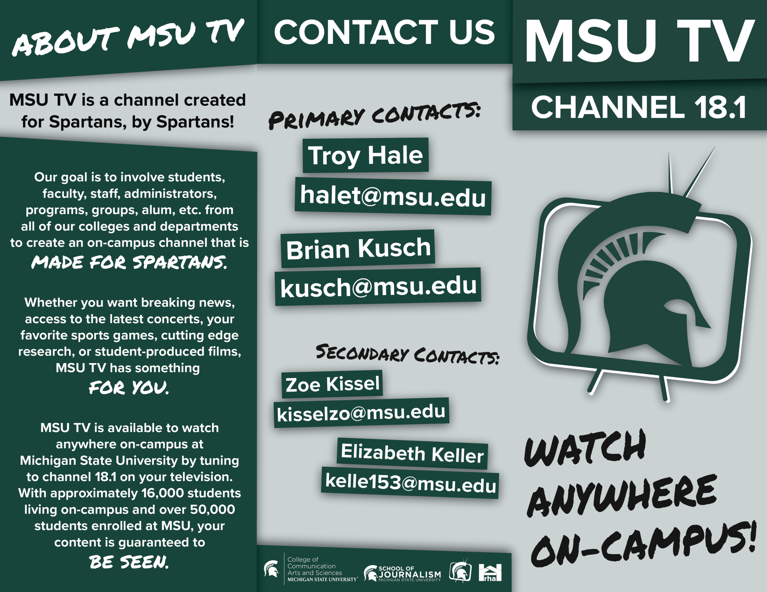 Zoe Kissel, Content Creator, Video Editing, Analog Photography, Graphic Design, Web Design, Motion Graphics, Social Media, Documentary Production, Scan Adapters, Michigan State University.