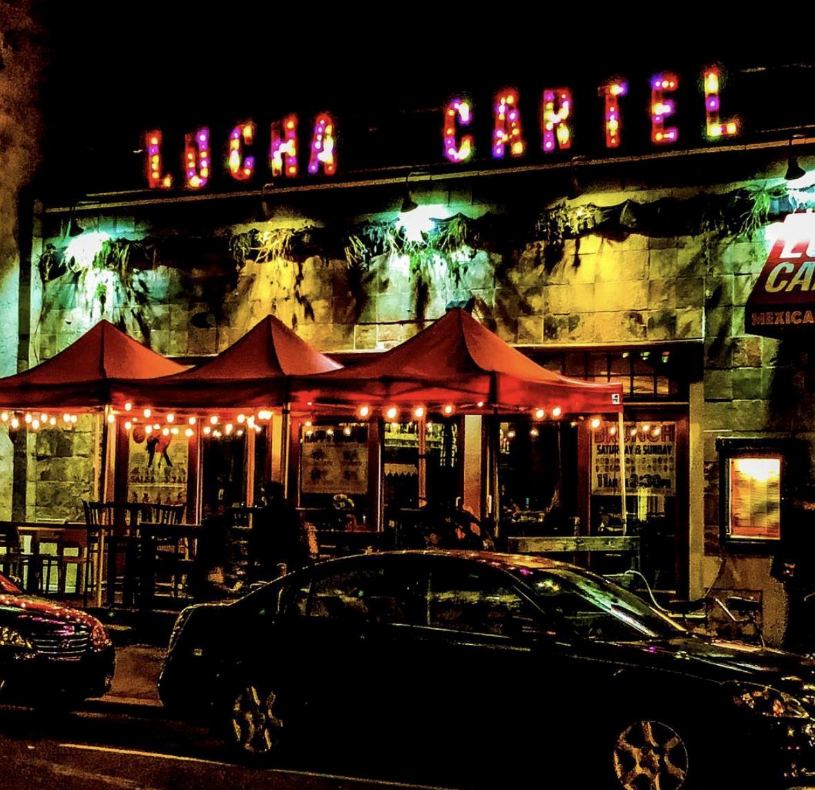 Lucha Cartel at night - Photo courtesy of @Social1028_
