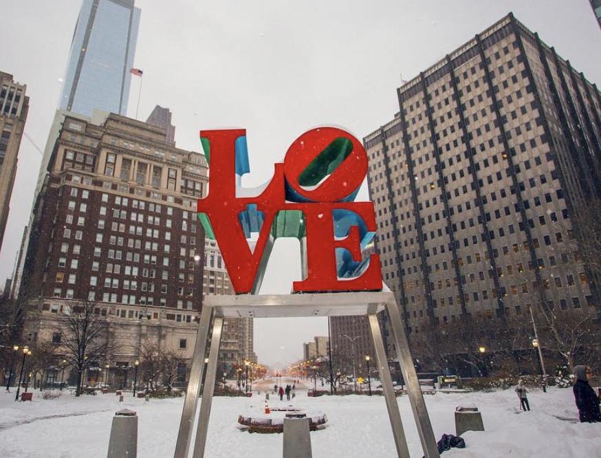 the LOVE sign - Photo courtesy of @NJWedding