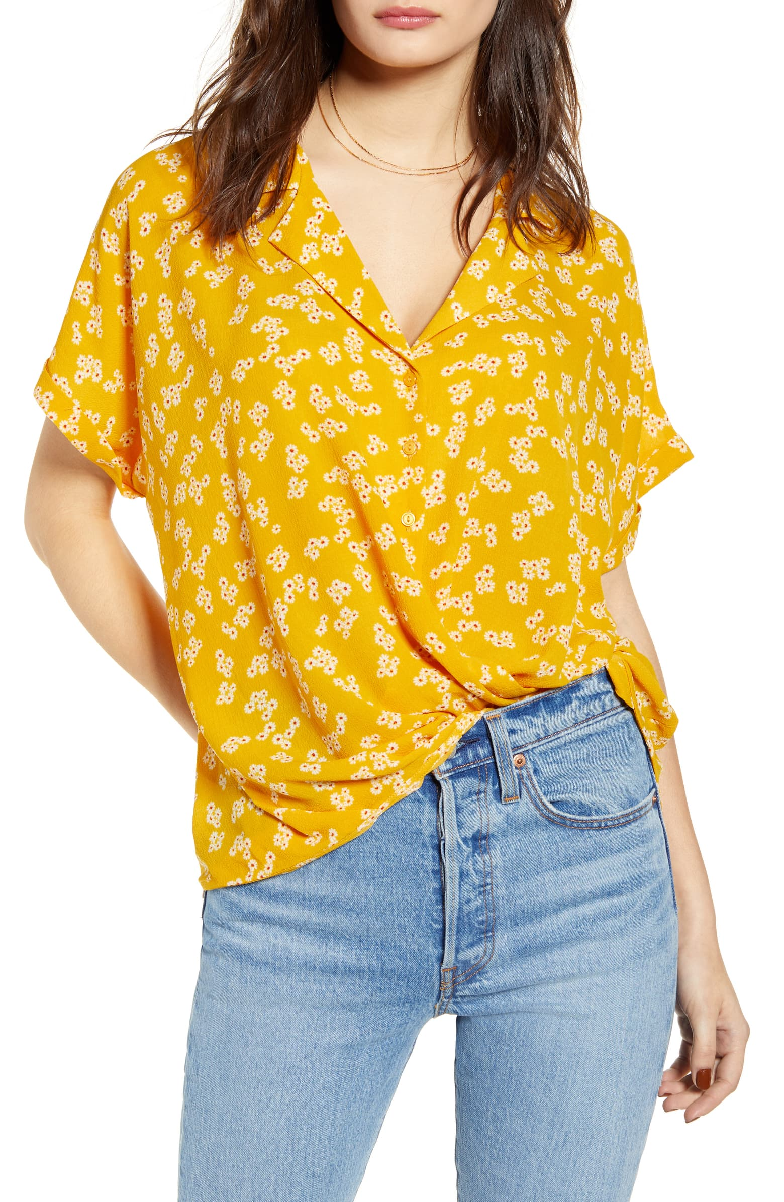 Originally ordered this in an XL, but when it arrived it was way too big, so I'd say size down for this shirt!