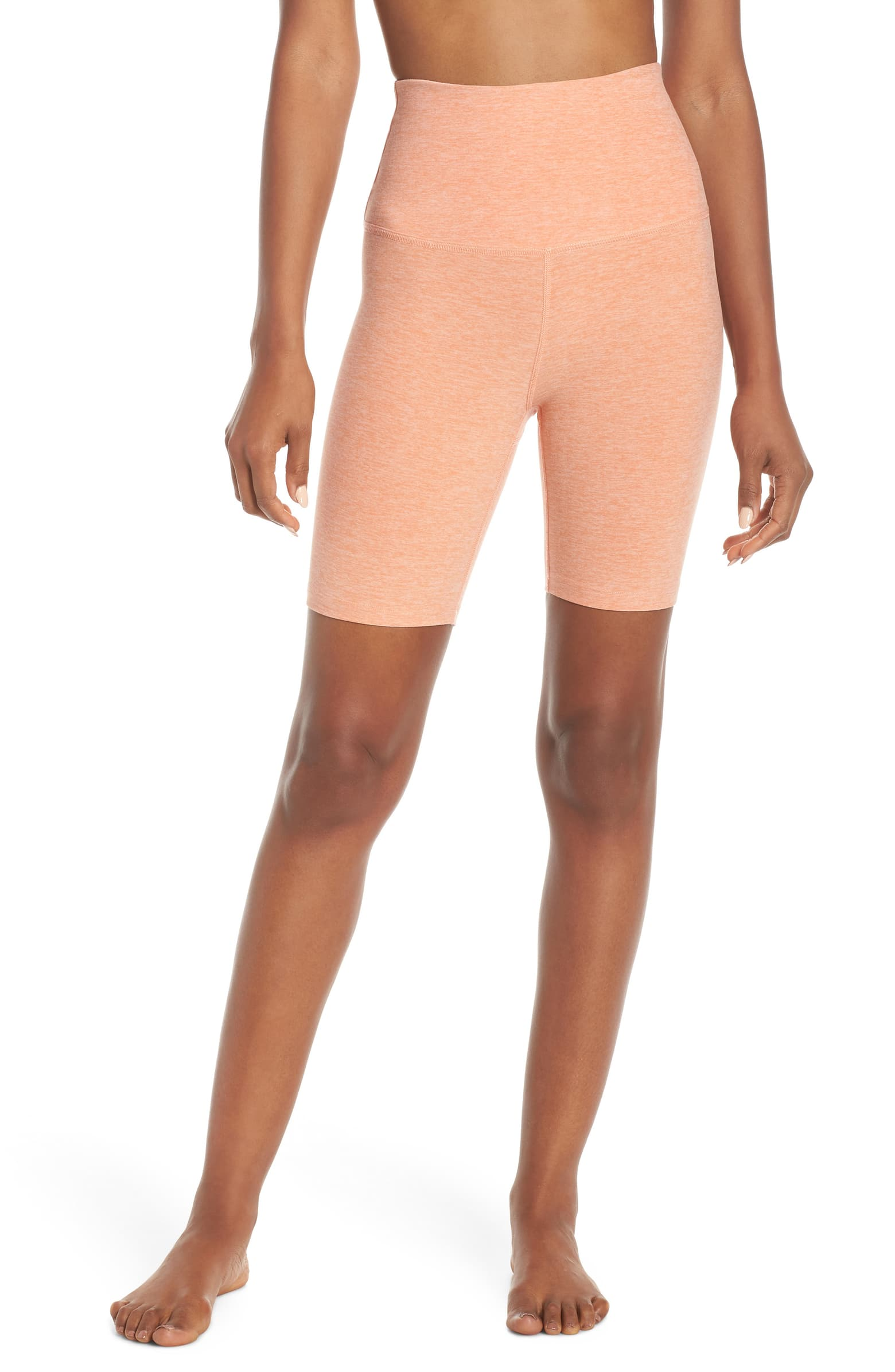 I wore these biker shorts under my dresses to 1) avoid chafing (curvy girls, unite!) and 2) ensure that even in high winds no tushy would be seen. They're SO thin + SO comfortable it feels like I'm wearing practically nothing!! I personally like these way more than Spanx.