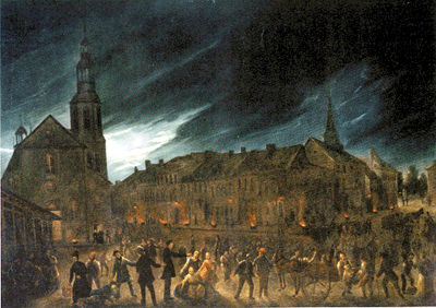 Cholera plague, Quebec . Painting by Joseph Légaré. Not too many benefits from having cholera in the 19th century.