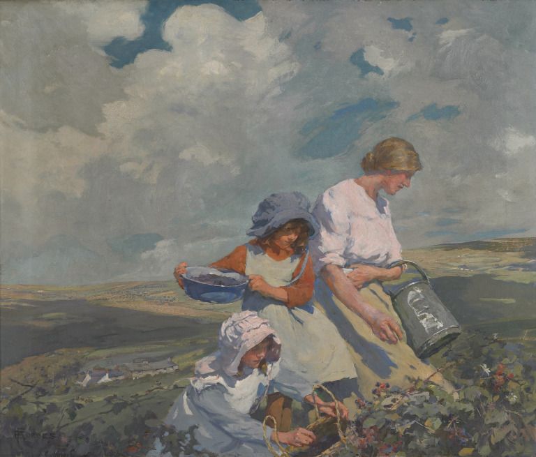 Blackberry Gathering. Elizabeth Adela Forbes. Normal science may seem mundane but has provided much 'nourishment' for our society.