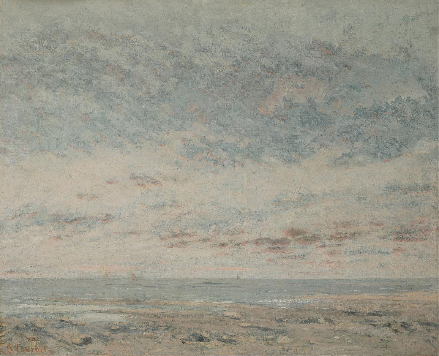 Low Tide at Trouville. Gustave Courbet.