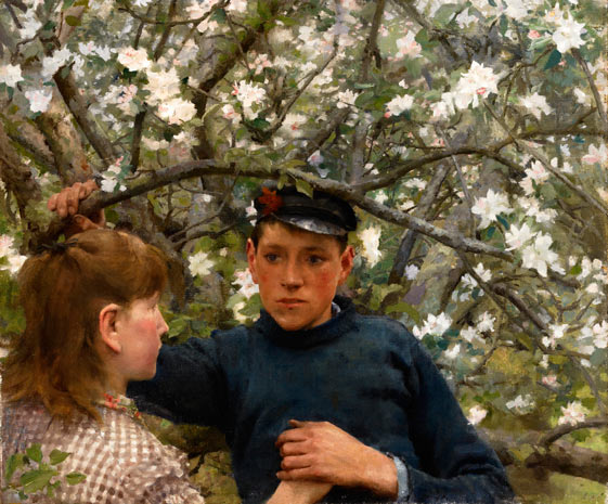 The promise. Henry Scott Tuke. Love is blind. Are animals?