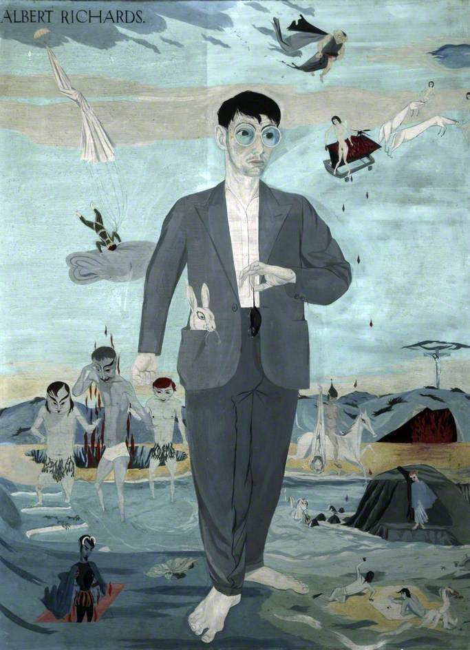 The Seven Legends: Self Portrait. Albert Richards. Not enough oxygen and you become blue in the face. Albert Richards was the youngest of three official British war artists to die in combat during WWII.