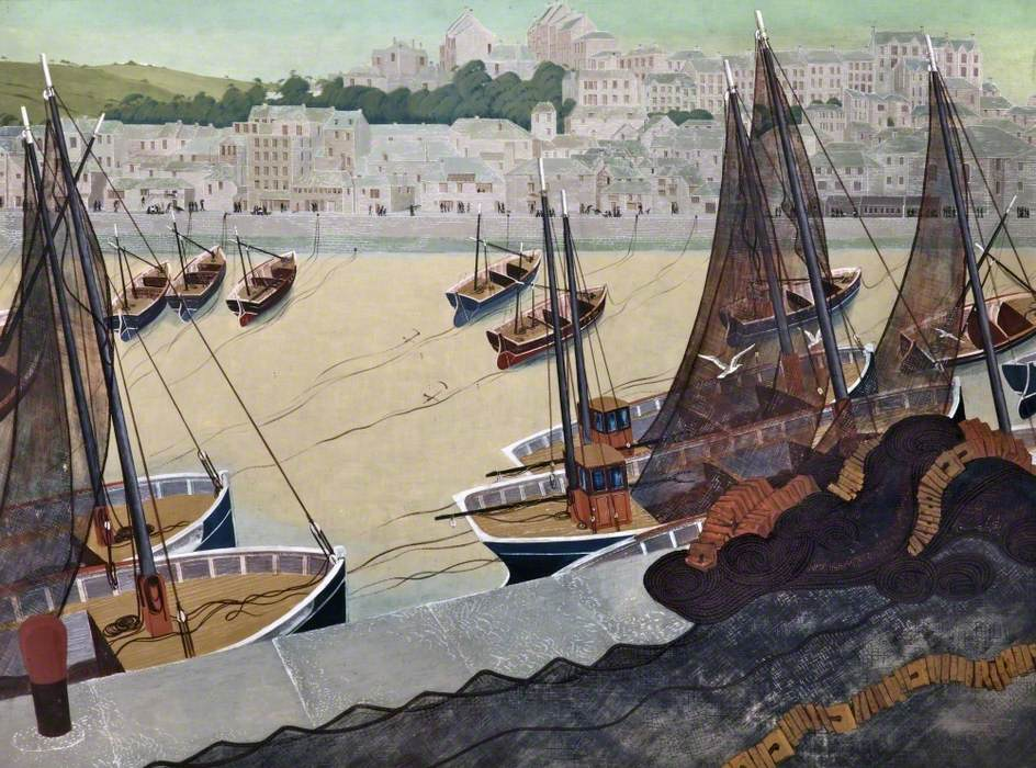 Fishing Nets, St Ives. Jack Coburn Witherop.