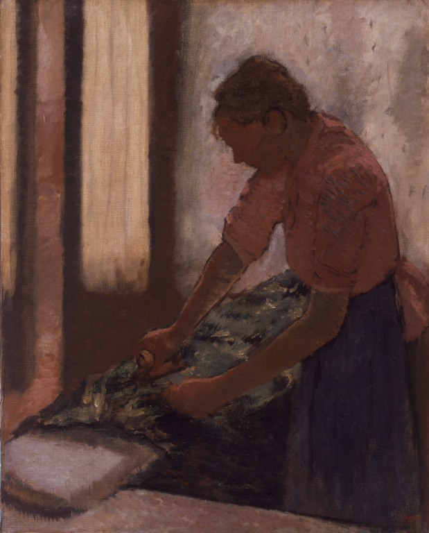Woman Ironing. Edgar Degas. Although an increased number of career paths are available to women today, there is still work to be done.