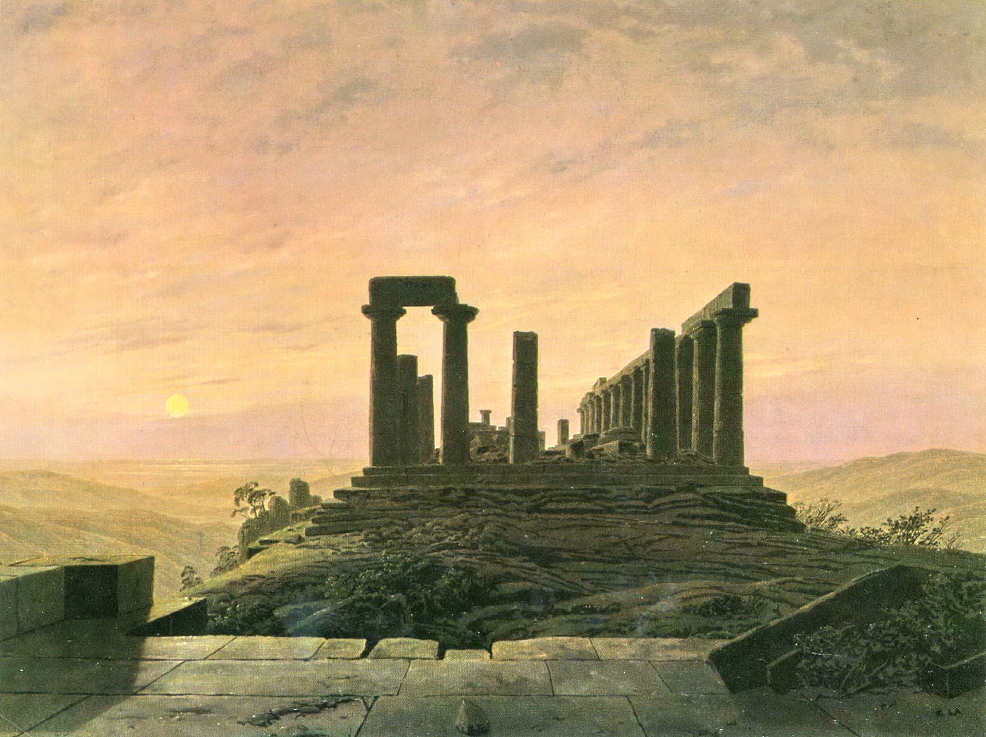 The Temple of Juno in Agrigento. Caspar David Frierich.