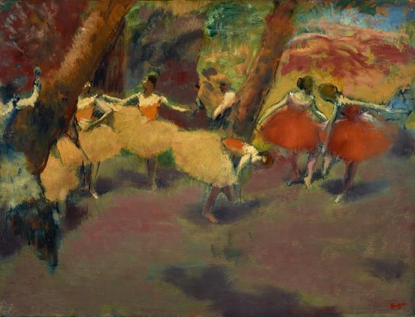 Before the performance. Edgar Degas. Just because your tutu is yellow, does not mean you are superior.