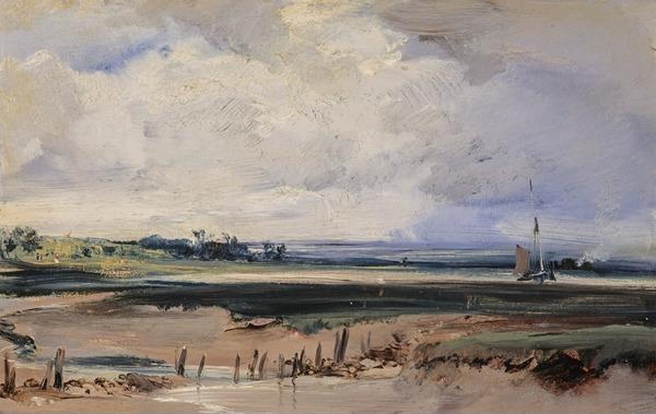 Les Salinieres near Trouville. Richard Parkes Bonington.