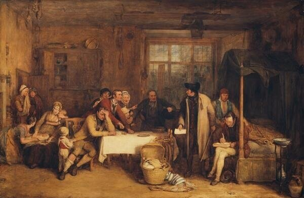 Distraining for Rent. Sir David Wilkie.