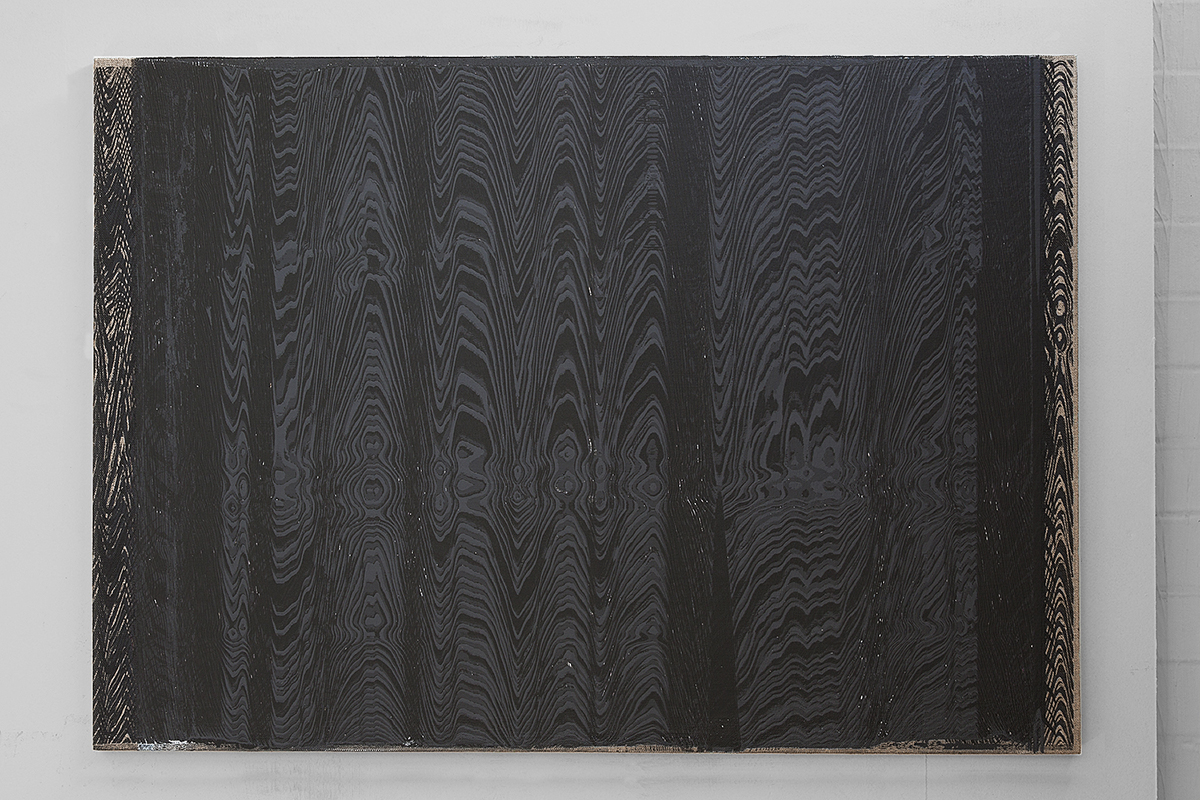 Hotzestrasse 23,  silkscreen ink on canvas mounted to panel, 23 x 33 inches, 2013