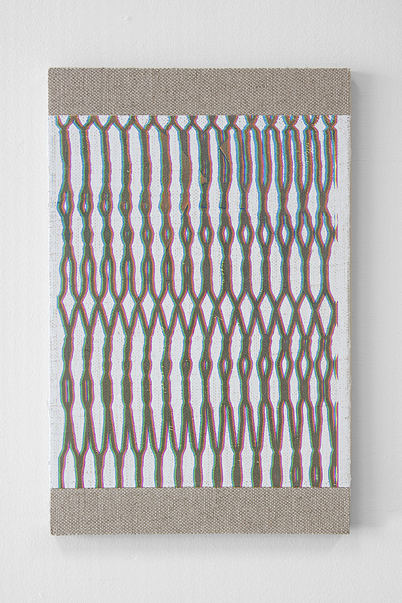 Hotzestrasse 23,  silkscreen ink on canvas mounted to panel, 17 x 11 inches, 2013