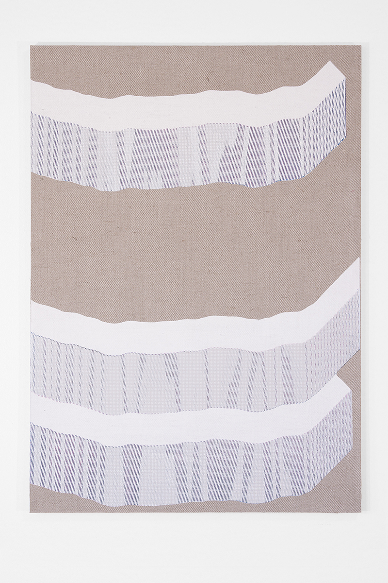 Hotzestrasse 23,  silkscreen ink on canvas mounted to panel, 33 x 23 inches, 2014