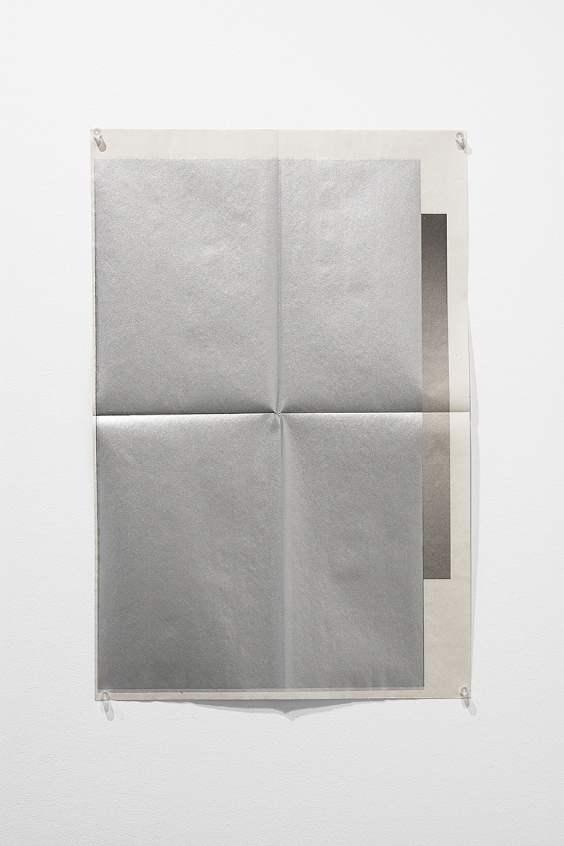Untitled (11/11/06 -10/25/08),  silkscreen ink, folded newsprint broadsides White Columns exhibition announcements 11/11/06 -10/25/08, 22.5x15 inches, 2008-2010