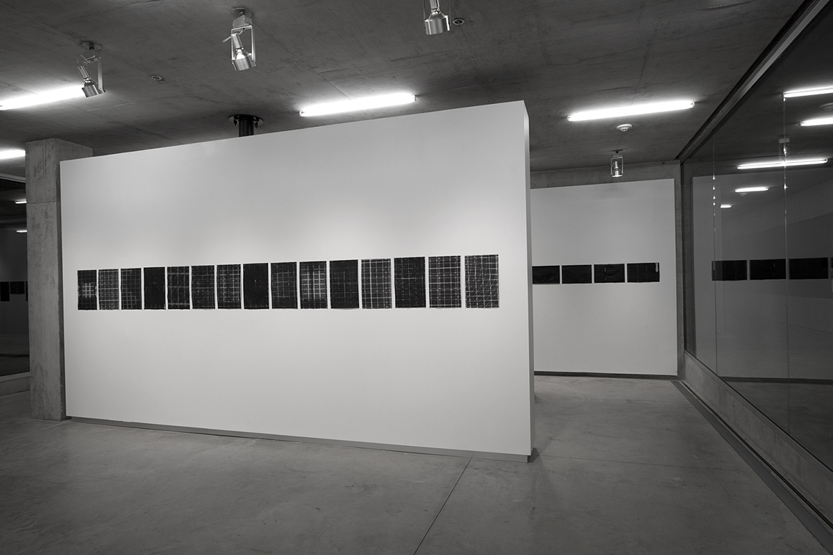 Untitled (F10/22/47),  silkscreen over photocopy and laser-print, 17 x 11 inches each, 2012