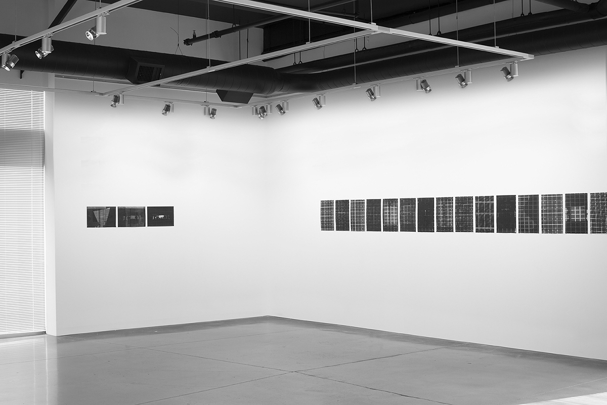 Untitled (F10/22/47),  silkscreen over photocopy and laser-print, 11 x 17 inches each, 2012