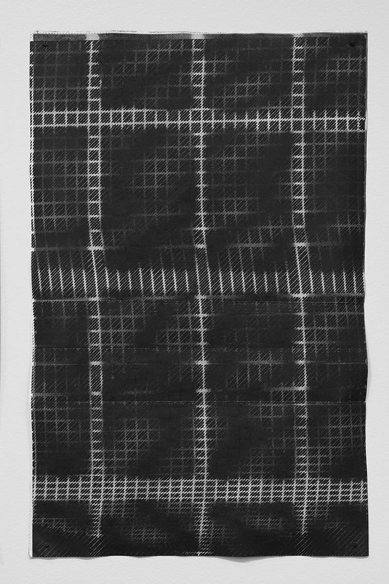 Untitled (F10/22/47),  silkscreen over photocopy and laser-print, 17 x 11 inches, 2012