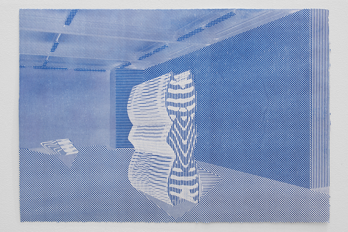 Interior,  woodcut print, 14 x 20 inches, 2017
