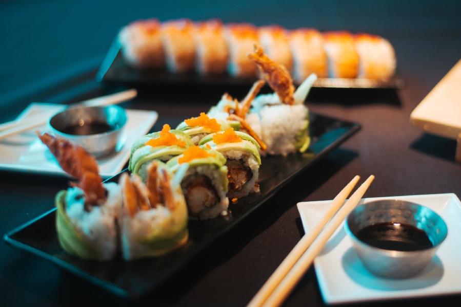 Our signature Spider (front) and Volcano Rolls (back).