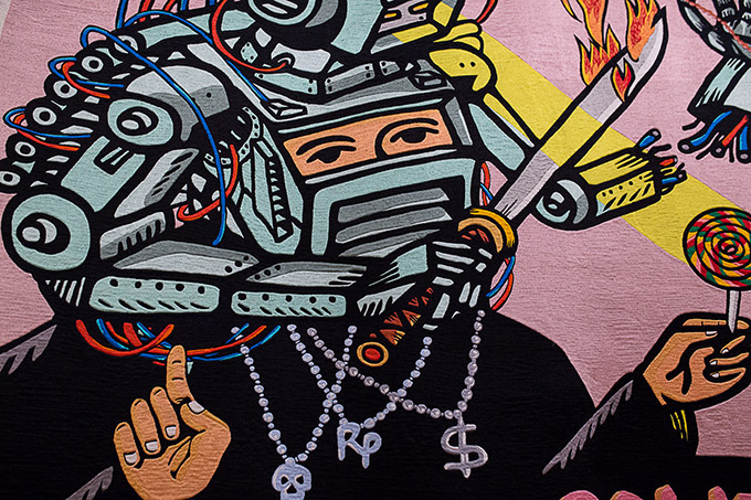 Artiste indonésien Eko Nugroho - Art gallery of NSW - épiques tapisseries