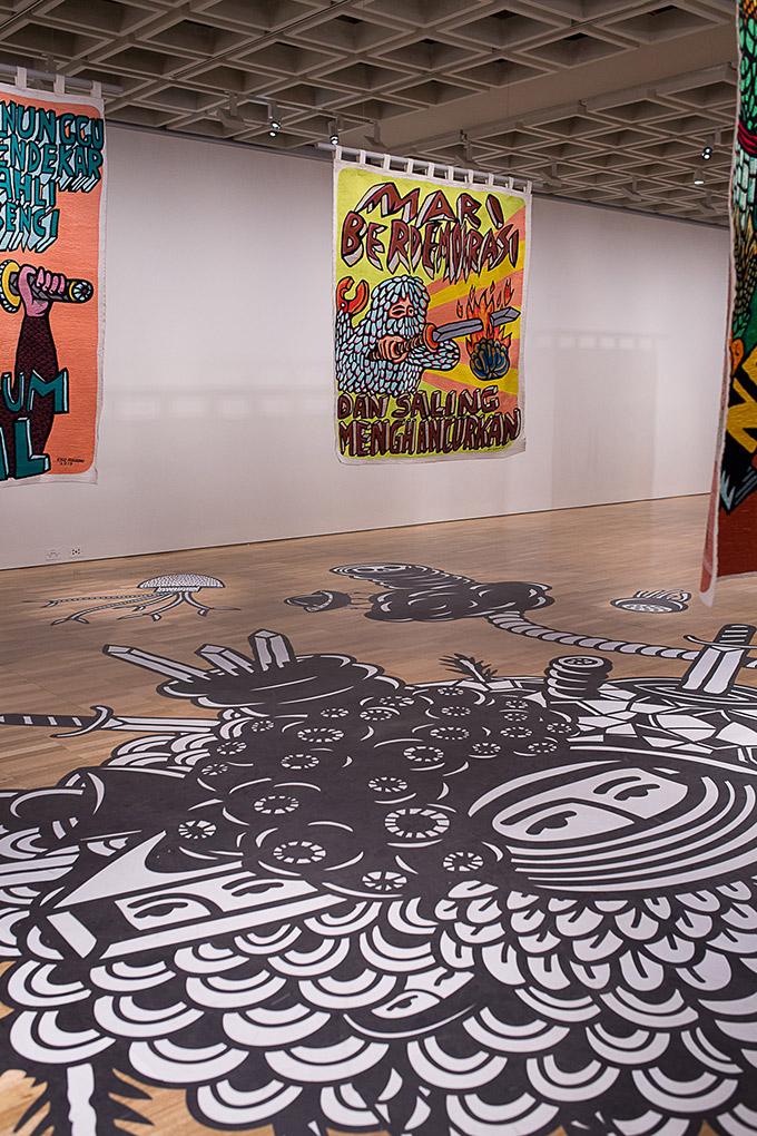Artiste indonésien Eko Nugroho - Art gallery of NSW - expo