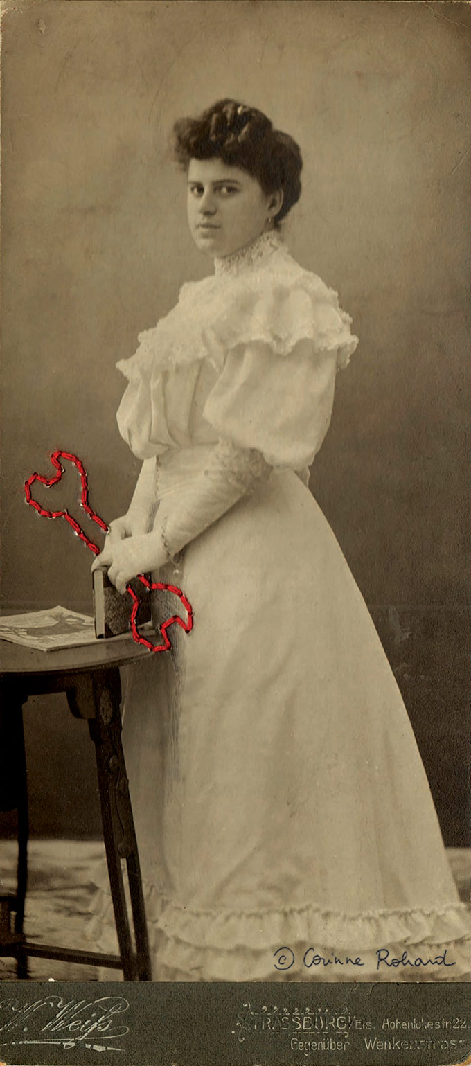 Memoires Vives de Corinne Rohard - broderie sur phototgraphie sur Tricotine.com