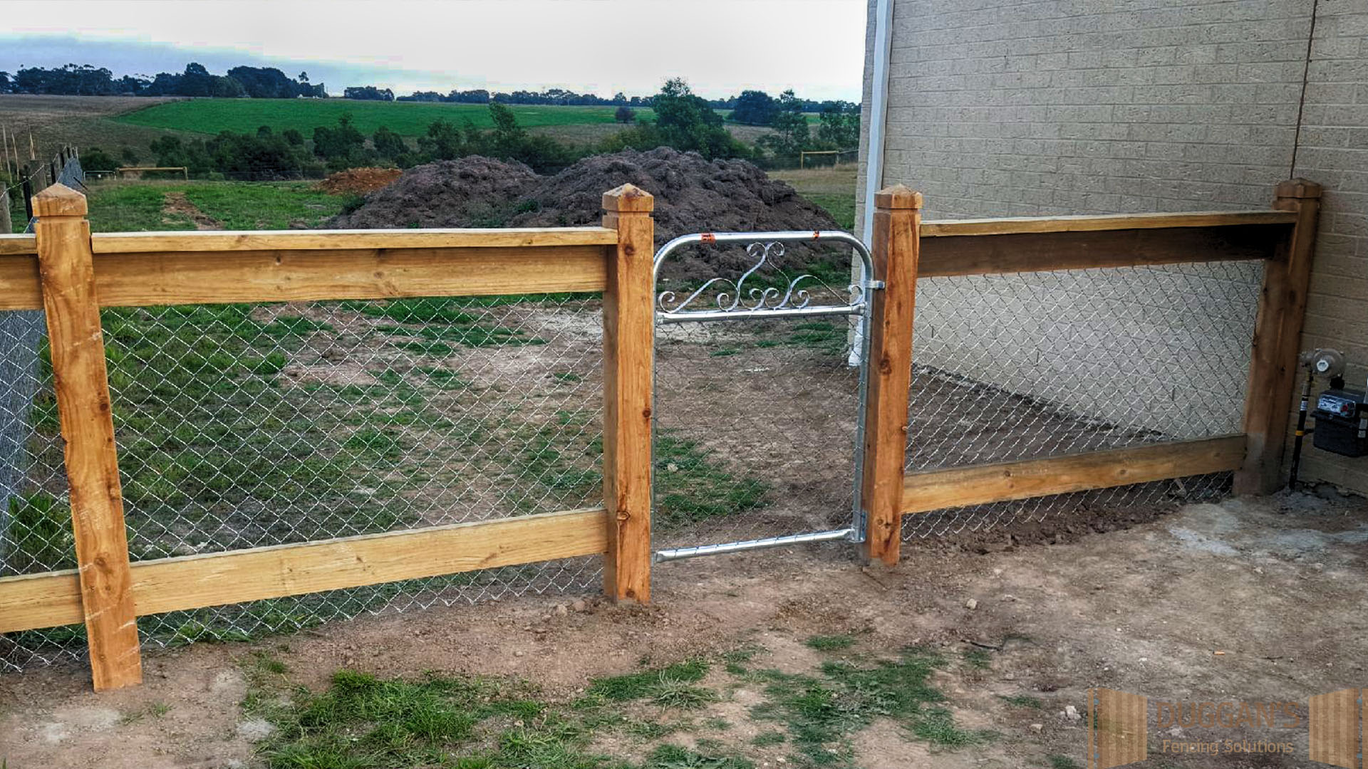Timber and Wire Fencing