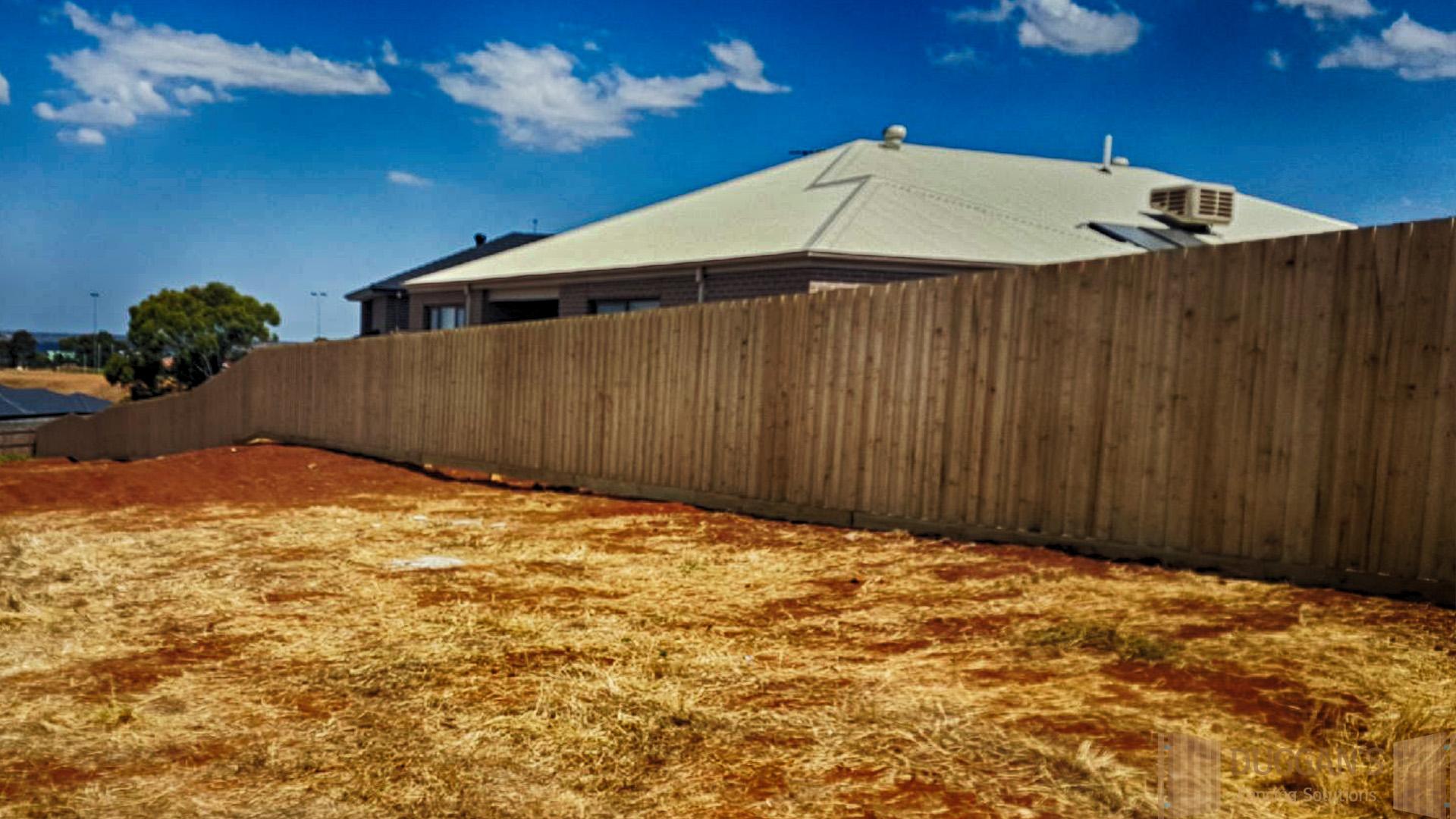 Long run Timber fence