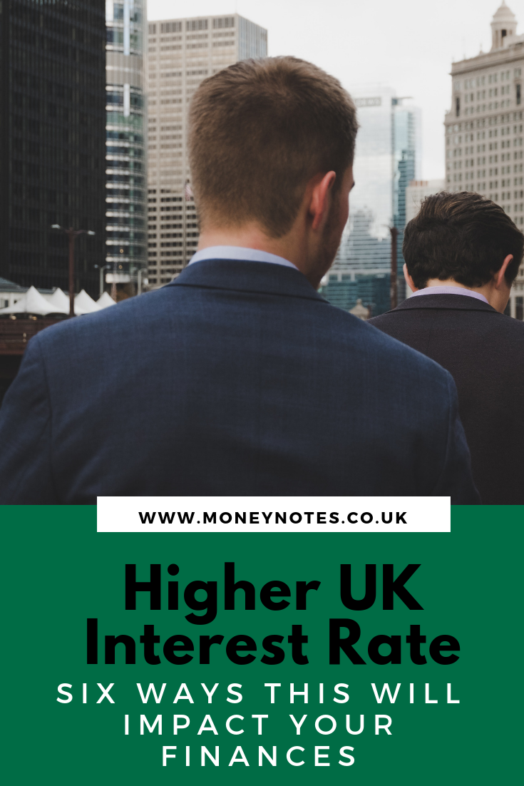 Higher UK Interest Rate - Six Ways This Will Impact Your Finances