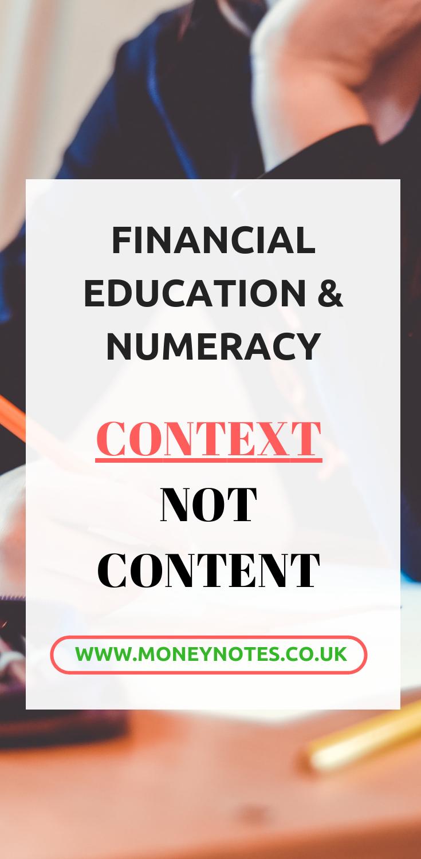 Financial Numeracy - Pinterest