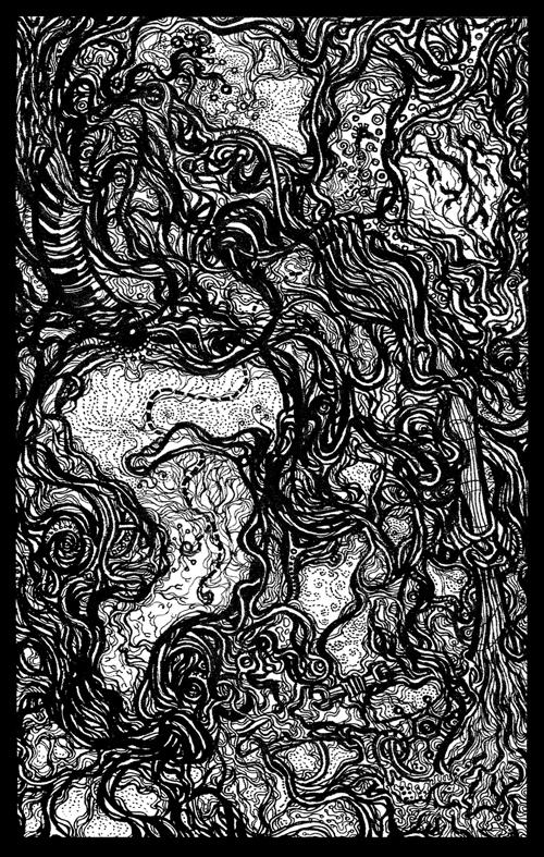 Acousma Line Drawing / Silk Screen Print