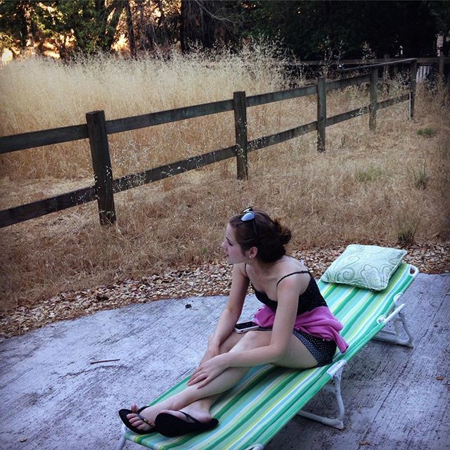 """""""If you're lonely when you're alone, you're in bad company."""" • • • • • #writer #summerthrowback #imagination #creative #morning #chillin #legs #model #actress #writer #summer #solitude #pale #girl #relaxing #sunny #overworked"""