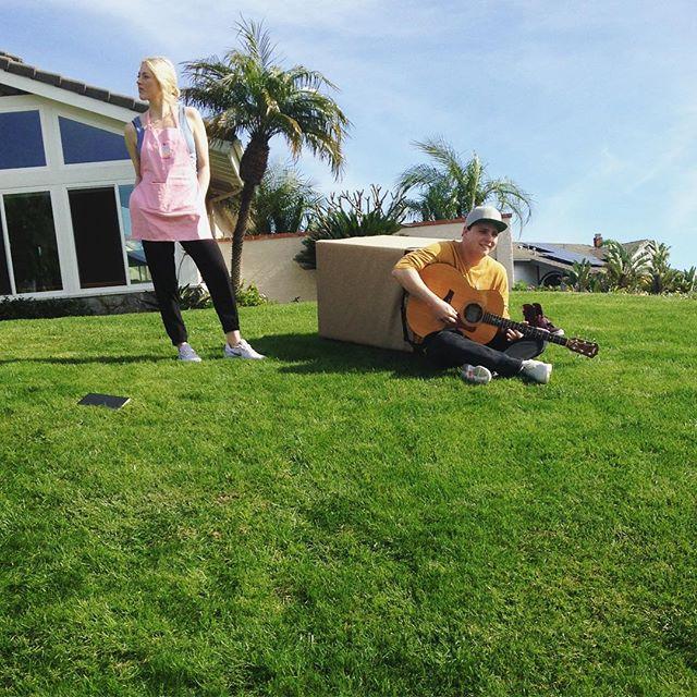 Meet DJ Giggles and Maid Marie. • • • • • • #tvpilot #onisthisthing #writer #actress #sanclemente #estate #richkidsofinstagram #dj #rapper #pilot #tv #losangeles #comedy #shooting #set #box #guitar