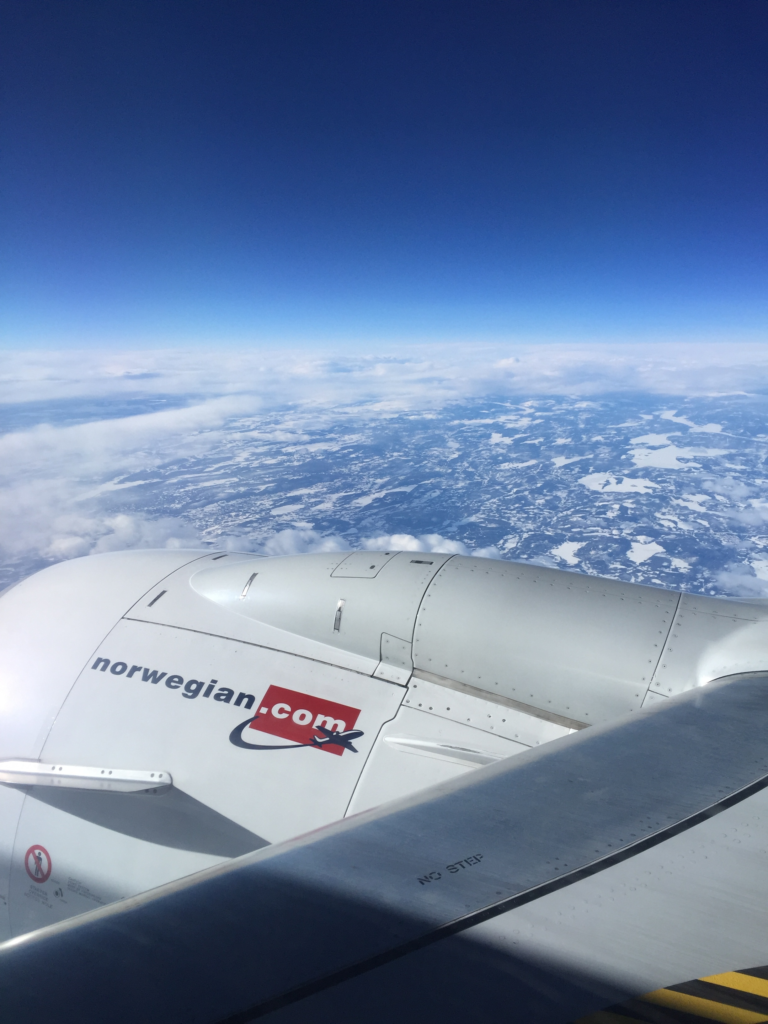 """Flying into Norway. """"Crossing the boundary between home and adventure."""""""