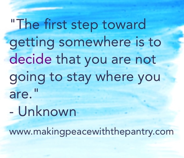 How to become fit and healthy. An inspirational quote to encourage you to take the first step. Whatever that looks like for you.