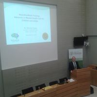 Michael presenting to TDs at Leinster House