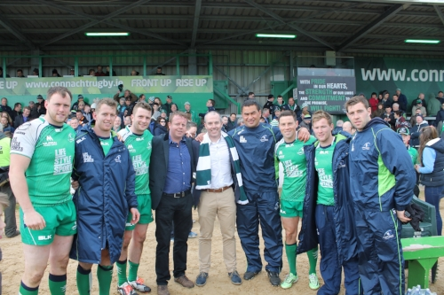 Michael, Cathal, Pat Lam and the Connacht Rugby players who did NFT on their way to their Pro12 victory in 2016!