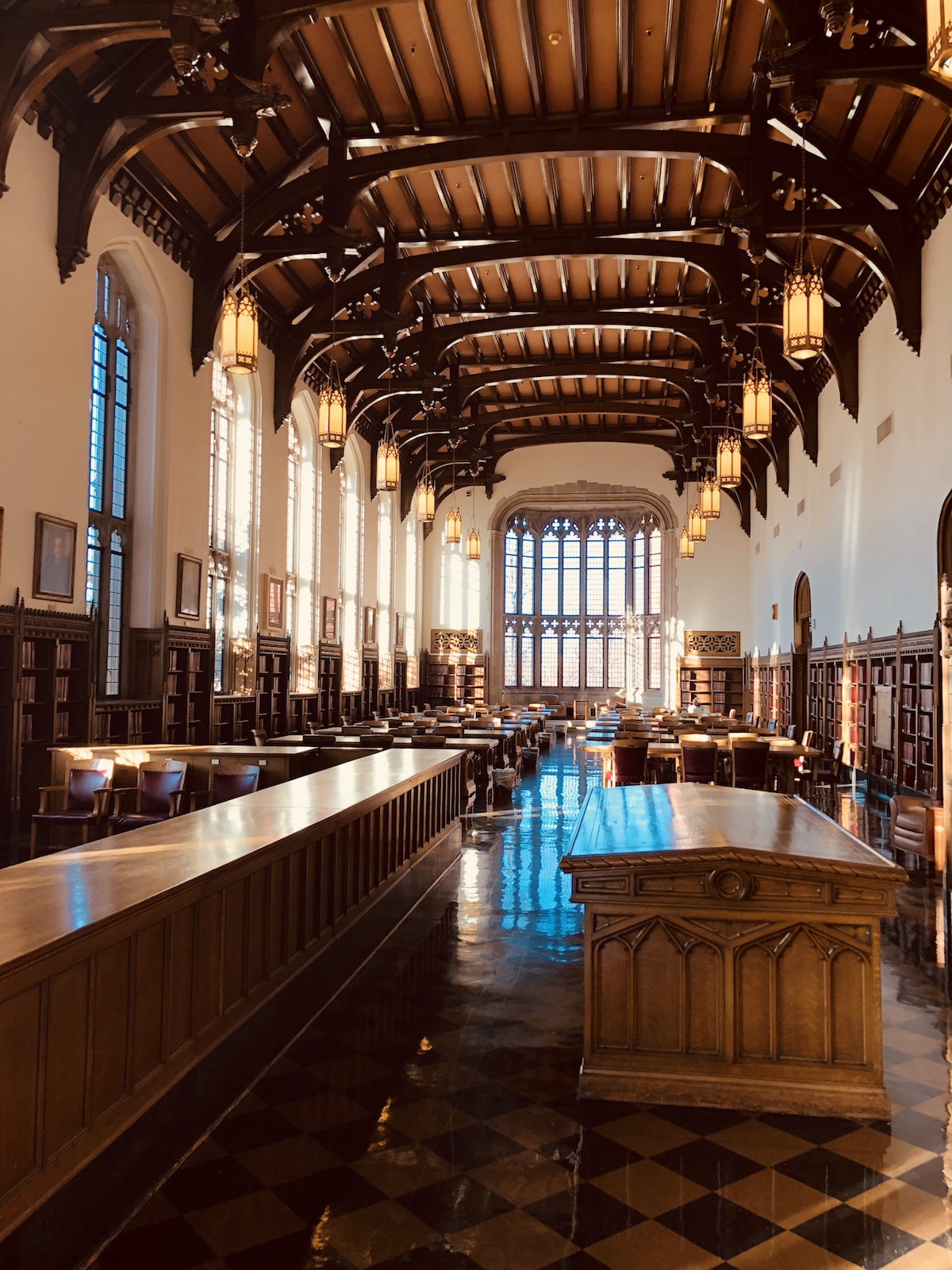 Bizzell Library's Reading Room at the University of Oklahoma in Norman, Oklahoma.
