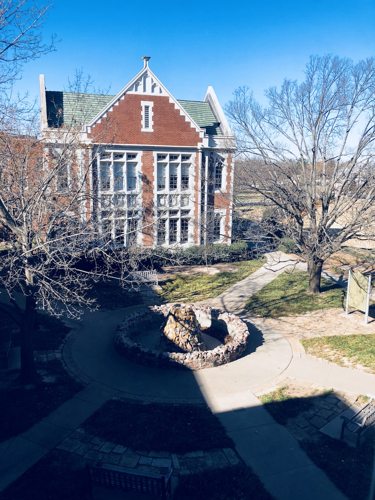View from the Carpenter Hall, University of Oklahoma School of Music in Norman, Oklahoma.