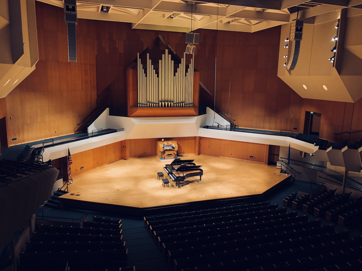 Paul F. Sharp Concert Hall at the University of Oklahoma School of Music in Norman, Oklahoma.