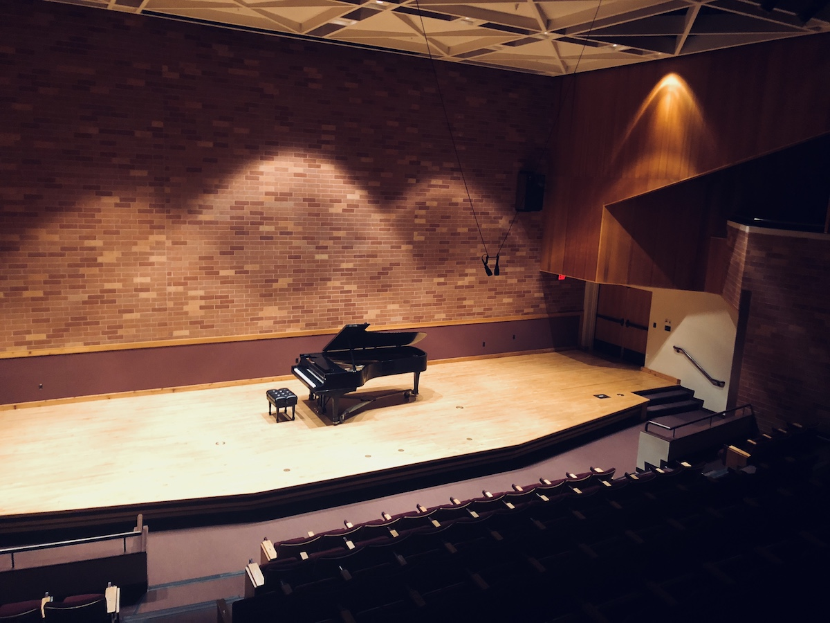 Morris R. Pitman Recital Hall at the University of Oklahoma School of Music in Norman, Oklahoma.